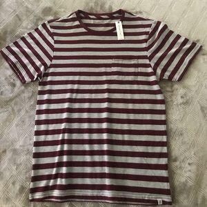 Sovereign Code Men's Wine Striped Short-Sleeve (M)